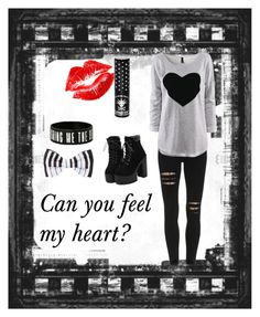 """""""Can You Feel My Heart?"""" by headphones-girl ❤ liked on Polyvore featuring Manic Panic, women's clothing, women, female, woman, misses and juniors"""