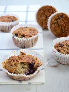 Gezonde muffins  Deze muffins zijn lekker bij het ontbijt, maar ook als tussendoortje en ze blijven heel lang vers. Ben je nu een echte zoetekauw dan kan je altijd nog wat extra honing toevoegen. Oh en om het Voedselzandloper proof te maken, vervang je de melk voor sojamelk.