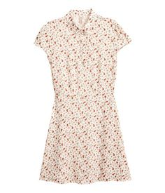 ♥ h&m, crepe dress (natural white/floral). size 2.