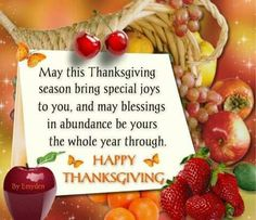 Hope you have a wonderful Happy Thanksgiving!