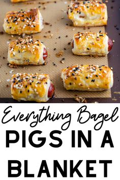 super bowl party food Everything Bagel Mini Pigs In A Blanket Recipe - A favorite easy party appetizer recipe is taken to the next level with everything bagel seasoning. Perfect finger food for your Super Bowl party. Finger Food Appetizers, Easy Appetizer Recipes, Yummy Appetizers, Easy Finger Food, Easy Appitizer, Easy Party Recipes, Appetizer Party, Easy Appetizers For Party, Simple Finger Foods