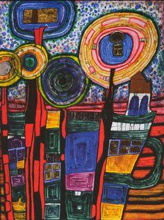 835B The Thinkers,timbre poste, 1995 Les originesFriedrich Stowasser naît en 1928 à Vienne(Autriche).Issu d'une famille juive, il est...