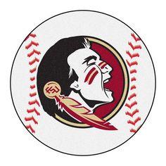 Florida State Seminoles  Baseball Shaped Area Rug Floor Mat  #FanMats #FloridaStateSeminoles  #GoNoles #FSU #JockUniversity