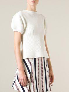 Sacai Luck Ribbed Side Slit Sweater - Biffi - Farfetch.com