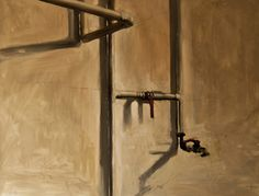 Wenceslao Robles grifo y tubos Óleo. Painting on canvas.