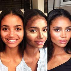 Another stunner by Amy Clarke Makeup #amyclarkemakeup #beforeandafter #contourandhighlight