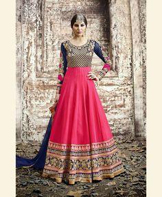 Pink Georgette Floor Length Anarkali Suit 69904