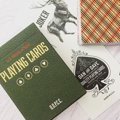Inspired by vintage aesthetic. The Vintage Plaid #playingcards by @bucktwins and @artofplay.