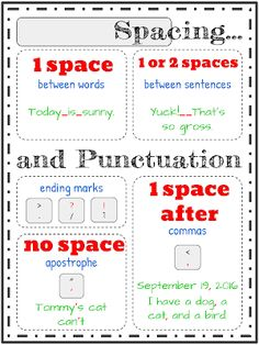 Download the spacing and punctuation poster Punctuation Posters, Halloween Fonts, Presentation Software, Spelling And Grammar, Literacy Skills, Writing Process, Learning Centers, Graphic Organizers, Student Work