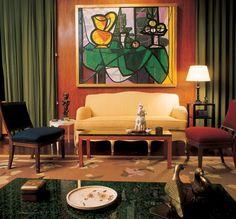 Nelson Rockefeller Fifth Avenue Residence - living room by Jean-Michel Frank