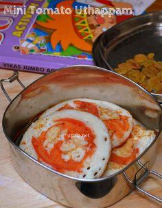Mini tomato uthappam and raisins  http://www.upala.net/2015/03/mini-tomato-uthappam-and-raisins-kids.html