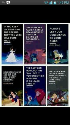 Disney taught us right