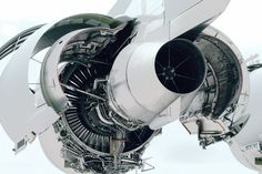 Jet engine exploded view