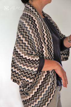 Zicke-Zacke-Strickjacke ganz schnell genäht - Handmade Kultur