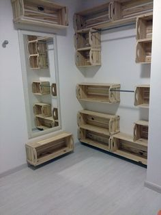 Home Design Interior and Outdoor Decoration Wood Crates, Wood Pallets, Pallet Wood, Wooden Boxes, Wood Wood, Box Houses, Pallet Shelves, Wood Crate Shelves, Pallet Creations