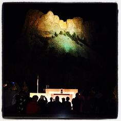 Check out this awesome picture of #MtRushmore at night, taken by @adamsvisuals! #Instagram