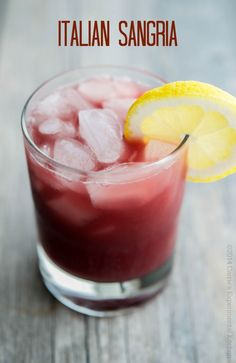 Italian Sangria made with red wine, Limoncello, Sweet Vermouth and orange juice is refreshing on a hot summer day.