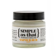 Free of petroleum products - Simple As That Baby Vapour Rub. It is a big seller!