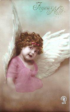 Vintage Postcard ~ Chubby Angel