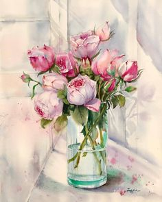 Watercolor Paintings Capture the Captivating Colors of Springtime in California - Blumen Watercolor Images, Watercolor Drawing, Watercolor And Ink, Watercolor Illustration, Watercolor Flowers, Drawing Art, Watercolor Ideas, Watercolor Artists, Arte Floral