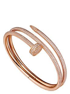 CARTIER Juste un clou 18ct pink-gold and diamond double bracelet