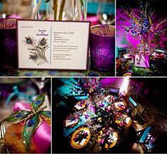 Peacock wedding ideas.