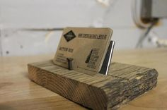 Raw/Reclaimed Barn Wood Business Card Holder by MCSWCo on Etsy