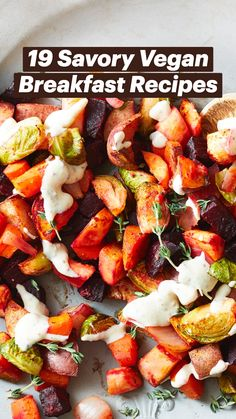 Tasty Vegetarian Recipes, Healthy Breakfast Recipes, Vegan Recipes Easy, Raw Food Recipes, Healthy Vegetarian Breakfast, Vegan Brunch Recipes, Paleo, Keto, Plant Based Eating