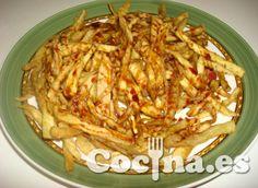 """Receta: falsas patatas fritas """"light"""""""