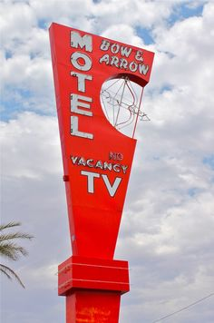 The Bow & Arrow Motel on Las Vegas Blvd. as part of the Neon Museum Outdoor Collection