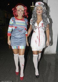 sam faiers billie faiers halloween 2012 zombie nurse chucky costume - Ebaycom Halloween Costumes
