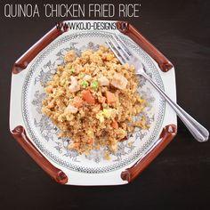 comfort food made healthier- quinoa 'chicken fried rice' recipe