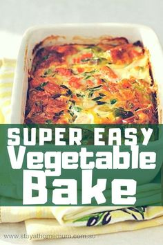 """Whenever I go out for dinner at a friend's place, this Super Easy Vegetable Bake is my go-to bake. Every one of my friend who has made this Super Easy Vegetable Bake is a witness at how easy and delicious this is. Vegetarian Bake, Vegetarian Recipes, Cooking Recipes, Healthy Recipes, Vegetarian Christmas Recipes, Drink Recipes, Baked Vegetables, Healthy Vegetables, Veggie Dishes"