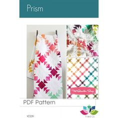 Prism Downloadable PDF Quilt Pattern<BR>V and Co.