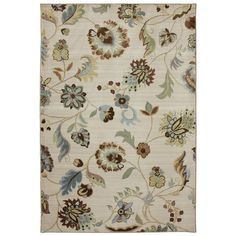 You'll love the Serenity Butter Pecan Floral Rug at Wayfair - Great Deals on all Décor  products with Free Shipping on most stuff, even the big stuff.