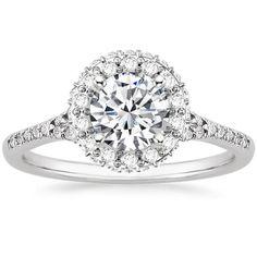 18K White Gold Circa Diamond Ring (1/2 ct. tw.), top view