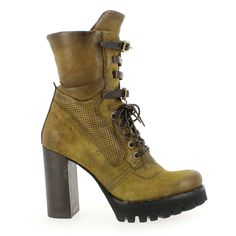 Chaussure AirStep - AS98 modèle 194202, Jaune olive - vue 1