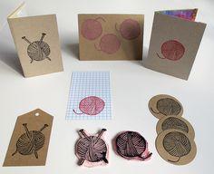 yarn ball stamps