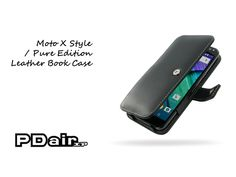 PDair Moto X Style / Pure Edition Leather Book Case