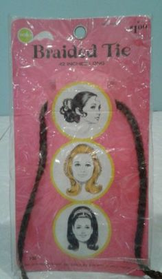 Vintage 1960s Hair Braids Extensions College Teen Fashion by Solo Product | eBay