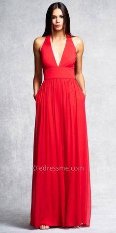 Chiffon Plunging Neckline Evening Dress by Aidan Mattox #edressme