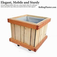 ROLLING SHADE AND PRIVACY- Rolling / Mobile Shade and Privacy Planter: Built for 15 gallon dwarf tree root balls. Planters are commericial duty but intimate enough for home use. Built from certified sustainable western red cedar and fir for beauty and natural weather resistance. Each planter is lined with tri-ply liner and allowed to be mobile with heavy industrial grade lockable wheels.  NOT A KIT. Made in Ventura, CA USA with 95% insourced and some recycled materials…