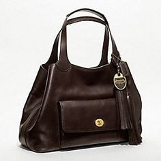 Coach Legacy American Icons Large Tote in Chocolate, $748 (ridiculous price for Coach, but looks like a really high quality bag)