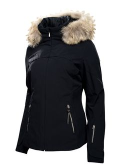 WOMENS SPYDER SKI JACKET POSH REAL FUR £565