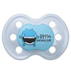 Little Blue Monster | Custom Baby Pacifier #halloween #boy #blue #binky #design