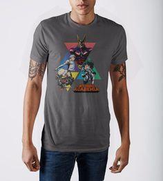 dd0df10d44ea9 My Hero Academia Triangles Grey T-Shirt