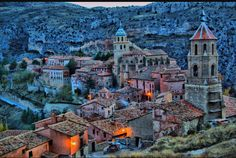 Albarracín, Aragon, Spain is a beautiful preserved medieval village. The rock paintings in the Albarracin Culture Park is the best evidence of Levantine prehistoric art in Spain. Places Around The World, The Places Youll Go, Places To See, Around The Worlds, Aragon, Vila Medieval, Medieval Town, Places To Travel, Travel Destinations