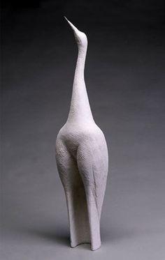 Ruth Duckworth.  Porcelain. Wooden beak. 2004.