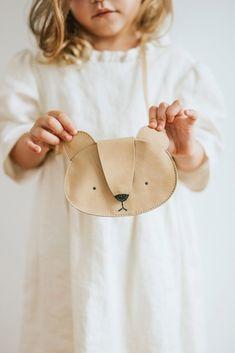 Britta Leather Bag - Bear via @deuxpardeuxKIDS