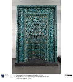 Glazed tile mihrab, century, Seljuks of Rum (Konya) Berlin Museum, Highlights, Glazed Tiles, Johannes, Islamic Art, Art And Architecture, Medieval, Objects, Ceramics